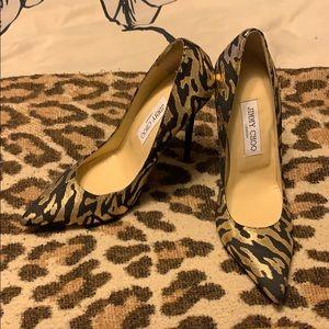 Jimmy Choo metallic gold zebra heels ❤️
